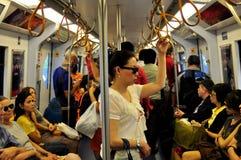 Bangkok, Thailand: BTS Skytrain Interior Royalty Free Stock Images