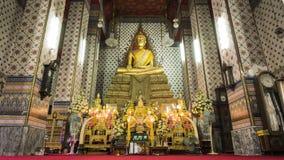 Bangkok, Thailand -Buddha gold statue and thai art architecture in Wat Arun buddhist temple( Publice temple) In Bangkok ,Thailand. Stock Images