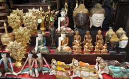 Bangkok, Thailand: Buddhas at Market Stock Photography
