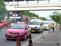 Bangkok-Thailand:   Bus Stop and Waiting. Royalty Free Stock Photography