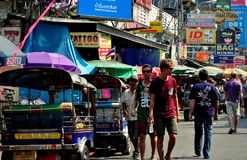 Bangkok, Thailand: Bustling Khao San Road Royalty Free Stock Photos