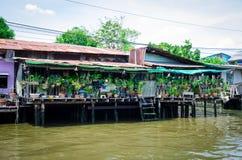 Bangkok, Thailand : Canal  riverside community Royalty Free Stock Photography