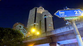 Bangkok - Thailand. Capital City of Bangkok and Lebua State Tower hotel. Visit the restaurant in the 64th floor Royalty Free Stock Images