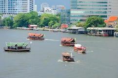 Bangkok, Thailand: Chao Praya River Boat Stock Photo