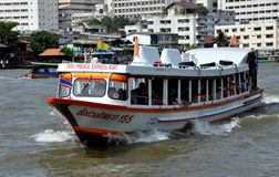 Bangkok, Thailand: Chao Praya River Ferry Boat Royalty Free Stock Photos