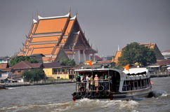 Bangkok, Thailand: Chao Praya River Ferry Boat Royalty Free Stock Photography
