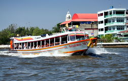 Bangkok, Thailand: Chao Praya River Taxi Stock Photos