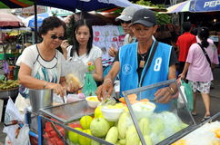 Bangkok, Thailand: Chatuchak Market Food Seller Royalty Free Stock Image