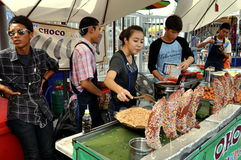 Bangkok, Thailand: Chatuchak Market Food Sellers Stock Image