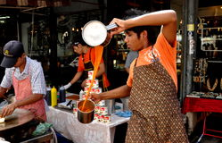 Bangkok, Thailand: Chatuchak Market Tea Seller Royalty Free Stock Photo