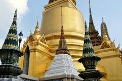 Bangkok, Thailand: Chedis at Wat Phra Kaeo Royalty Free Stock Image