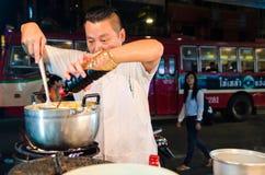 Bangkok, Thailand : Chef cooking Royalty Free Stock Photos