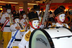 Bangkok, Thailand: Children's Marching Band Royalty Free Stock Photography