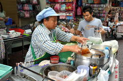 Bangkok, Thailand: Chinatown Food Seller Stock Photos