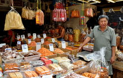 Bangkok, Thailand: Chinatown Food Shop Royalty Free Stock Images