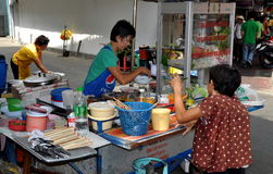 Bangkok, Thailand: Chinatown Food Vendor Stock Image