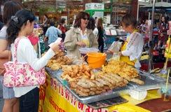 Bangkok, Thailand: Chinatown Food Vendor Stock Photo