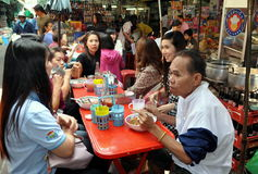 Bangkok, Thailand: Chinatown Restaurant Royalty Free Stock Images