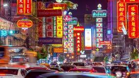 Bangkok Thailand Chinatown stock video footage