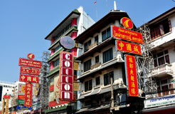 Bangkok, Thailand: Chinatown Signs Stock Photography