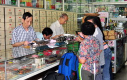 Bangkok, Thailand: Chinese Apothecary Shop Royalty Free Stock Photos