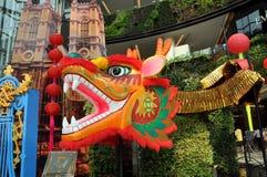 Bangkok, Thailand: Chinese New Year Dragon Royalty Free Stock Photos