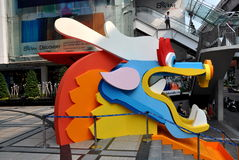 Bangkok, Thailand: Chinesischer neues Jahr-Drache Stockfotos