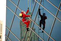Bangkok, Thailand: Christmas Santa Decoration Stock Photography
