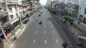 BANGKOK, THAILAND - CIRCA March 2017: City traffic, cars, mopeds, busses. Timelapse Action camera stock video footage