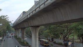 BANGKOK,THAILAND- CIRCA March 2017: Metro train passing by. Overground transportation stock video