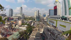 BANGKOK, THAILAND - CIRCA March 2017: Wide angle day timelapse in the sunny city. Action camera stock video footage