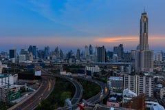 Bangkok , Thailand cityscape at dusk Stock Images