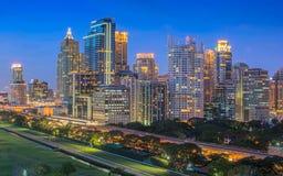 Bangkok thailand cityscape. Thailand bangkok twilight light night city architecture  building Stock Image