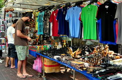 Bangkok, Thailand: Clothes Vendor on  Silom Road Royalty Free Stock Photography