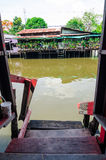 Bangkok, Thailand : Community canal riverside Stock Photos