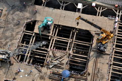 Bangkok, Thailand: Construction Site at Luxury Condiminum Stock Photo