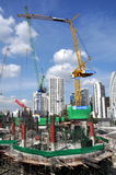 Bangkok, Thailand: Construction on Sukhamvit Rd Royalty Free Stock Images