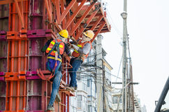 Bangkok Thailand : Construction Workers Stock Images