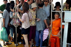 Bangkok, Thailand: Crowded Ferry Boat Royalty Free Stock Photo