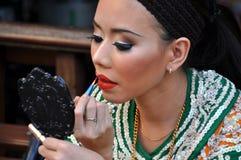 Bangkok, Thailand: Dancer Applying Makeup Royalty Free Stock Photography