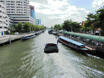 Bangkok-Thailand :A day on July. Water Traffic conditions on the Royalty Free Stock Photos