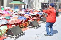 Bangkok/Thailand - 05 15 2012: De Rode Overhemden blokkeren Ratchaprasong/Asok Royalty-vrije Stock Afbeelding