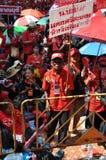 Bangkok/Thailand - 05 15 2012: De Rode Overhemden blokkeren Ratchaprasong/Asok Royalty-vrije Stock Foto's