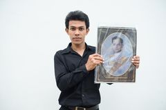 Thai people grieve over the demise of King Rama9 Royalty Free Stock Photography