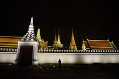 Thai people grieve over the demise of King Rama9 Royalty Free Stock Images