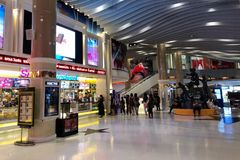 Exterior view of SF Cinema at the Terminal 21 shopping mall. BANGKOK THAILAND - 27 DEC 2017 Exterior view of SF Cinema at the Terminal 21 shopping mall, It is Royalty Free Stock Image