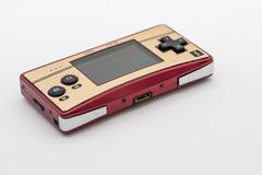 Bangkok, Thailand - Dec 29, 2017: Gameboy Micro. Bangkok, Thailand - Dec 20, 2017: Gameboy Micro 20th Anniversary, Vintage portable game by Nintendo royalty free stock image