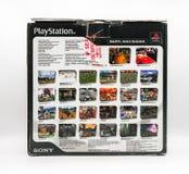 Bangkok, Thailand - 20 Dec, 2017: Uitstekende PlayStation-console Royalty-vrije Stock Fotografie