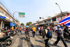 BANGKOK, THAILAND-DECEMBER 9 : The big group of protestors to at Stock Images