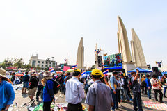BANGKOK, THAILAND-DECEMBER 9 : The big group of protestors to at Stock Photos
